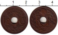 Изображение Монеты Индокитай 1/2 сантима 1936 Бронза XF