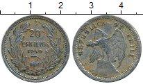 Изображение Монеты Чили 20 сентаво 1940 Медно-никель VF