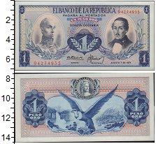 Изображение Банкноты Колумбия 1 песо 1971  UNC-