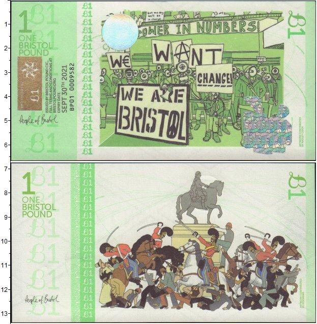 Картинка Банкноты Великобритания 1 фунт  2012