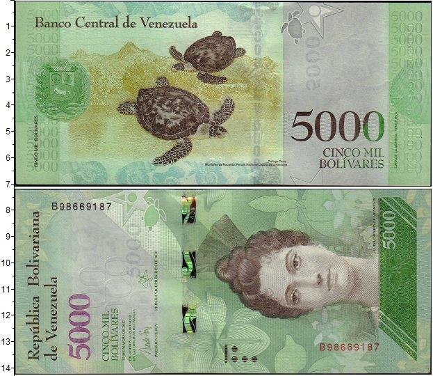 Картинка Банкноты Венесуэла 5.000 боливар  2013