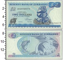 Изображение Банкноты Зимбабве 2 доллара 1983  UNC-