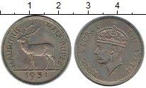 Изображение Монеты Маврикий 1/2 рупии 1951 Медно-никель VF