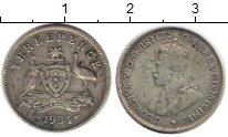 Изображение Монеты Австралия 3 пенса 1934 Серебро VF