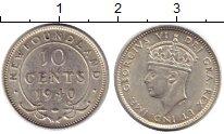 Изображение Монеты Ньюфаундленд 10 центов 1940 Серебро XF