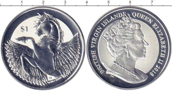 Картинка Мелочь Виргинские острова 1 доллар Серебро 2018