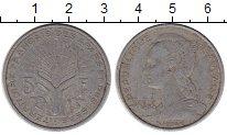 Изображение Монеты Франция Афарс и Иссас 5 франков 1975 Алюминий VF