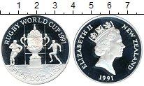 Изображение Монеты Новая Зеландия 5 долларов 1991 Серебро Proof