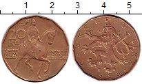 Изображение Монеты Чехия 20 крон 1993 Бронза XF