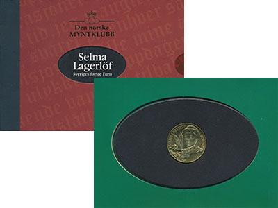 Изображение Подарочные монеты Швеция 5 евро 1996 Латунь UNC Селма Лагерлеф