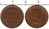 Изображение Монеты Чили 20 сентаво 1952 Бронза XF