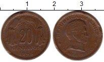Изображение Монеты Чили 20 сентаво 1945 Бронза VF