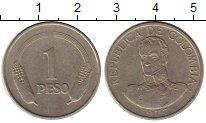 Изображение Монеты Колумбия 1 песо 1977 Медно-никель XF