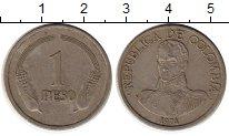 Изображение Монеты Колумбия 1 песо 1974 Медно-никель VF