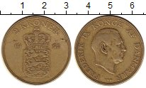 Изображение Монеты Дания 2 кроны 1952 Латунь VF
