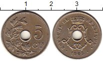 Изображение Монеты Бельгия 5 сантим 1905 Медно-никель XF