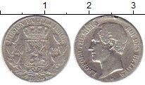 Изображение Монеты Бельгия 20 сантим 1853 Серебро VF+