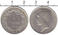 Изображение Монеты Бельгия 1 франк 1911 Серебро XF