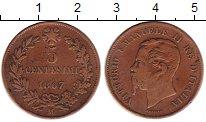 Изображение Монеты Италия 5 сентесим 1867 Медь VF