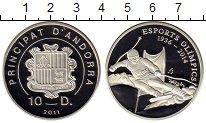 Изображение Монеты Андорра 10 динерс 2011 Серебро Proof