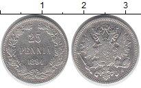 Изображение Монеты Финляндия 25 пенни 1894 Серебро VF