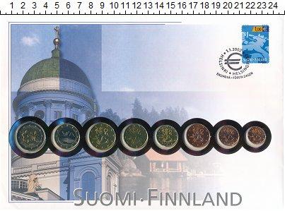 Изображение Подарочные монеты Финляндия Финляндия 1999-2001 0  UNC- В наборе 8 монет ном