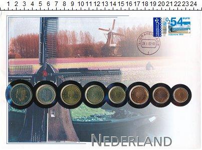 Изображение Подарочные монеты Нидерланды Нидерланды 2002 2002  UNC- В наборе 8 монет ном