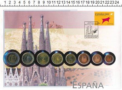 Изображение Подарочные монеты Испания Испания 1999-2002 0  UNC- В наборе 8 монет ном