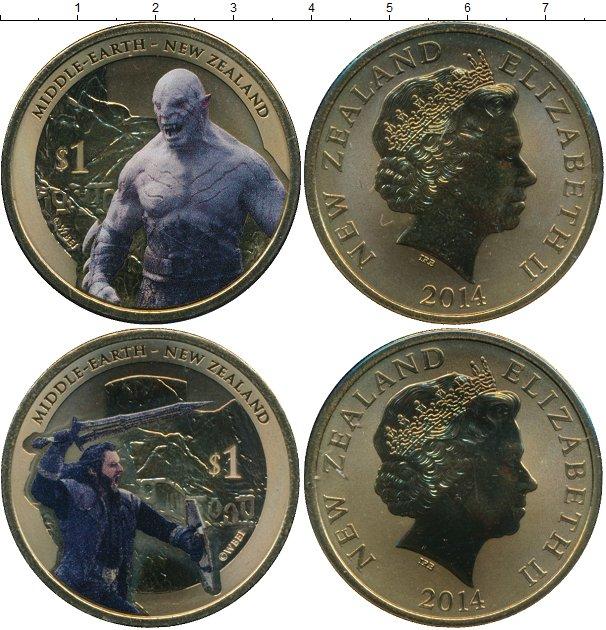 Набор монет Новая Зеландия Хоббит Латунь 2014 UNC фото 2