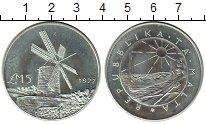Изображение Монеты Мальта 5 фунтов 1977 Серебро UNC-