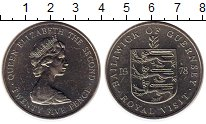 Изображение Монеты Великобритания Гернси 25 пенсов 1978 Медно-никель UNC-