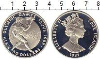 Изображение Монеты Новая Зеландия Острова Кука 50 долларов 1987 Серебро Proof