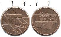 Изображение Монеты Нидерланды 5 центов 1990 Латунь UNC-