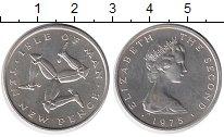 Изображение Монеты Великобритания Остров Мэн 10 пенсов 1975 Серебро UNC-