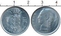 Изображение Монеты Бельгия 1 франк 1966 Медно-никель XF