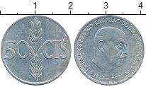 Изображение Монеты Испания 50 сентим 1966 Медно-никель VF