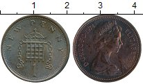 Изображение Монеты Великобритания 1 пенни 1974 Бронза XF