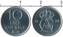 Изображение Монеты Швеция 10 эре 1973 Медно-никель UNC-