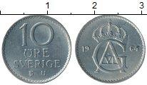 Изображение Монеты Швеция 10 эре 1964 Медно-никель UNC-