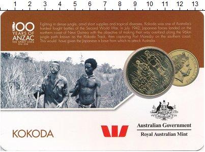 Изображение Мелочь Австралия 25 центов 2016 Латунь UNC