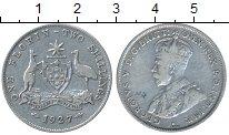 Изображение Монеты Австралия 1 флорин 1927 Серебро XF-