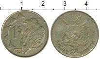 Изображение Монеты Намибия 1 доллар 1993 Латунь XF