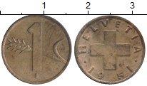 Изображение Монеты Швейцария 1 рапп 1951 Бронза XF+