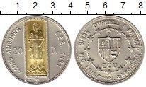 Изображение Монеты Андорра 20 динерс 1994 Серебро UNC
