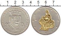 Изображение Монеты Андорра 20 динерс 1997 Серебро UNC