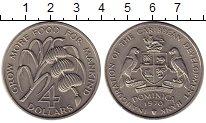 Изображение Монеты Доминиканская республика 4 доллара 1970 Медно-никель UNC-