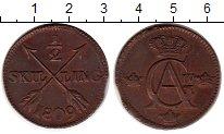 Изображение Монеты Швеция 1/2 скиллинга 1809 Медь XF