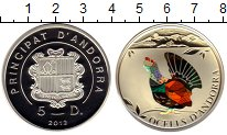 Изображение Монеты Андорра 5 динерс 2012 Серебро Proof