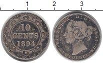 Изображение Монеты Канада Ньюфаундленд 10 центов 1894 Серебро VF