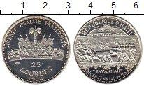 Изображение Монеты Гаити 25 гурдес 1974 Серебро Proof-